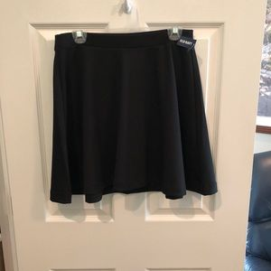 Old Navy Swing Skirt Medium BLACK